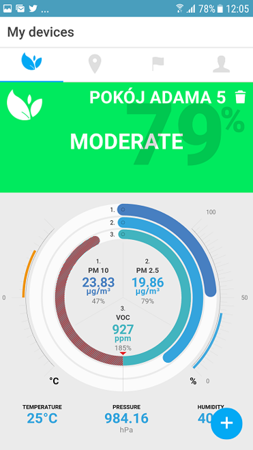 EcoLife AirSensor miernik jakości powietrza
