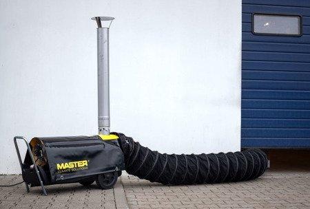 Giętkie przewody czarne + torba 7,6 m, 510 mm Master do BV 691 i RS 40, 4515.366