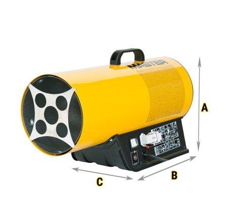 Nagrzewnica gazowa Master BLP 33ET + zestaw do sprzęgania butli