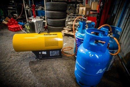 Nagrzewnica gazowa Master BLP 53M + zestaw do sprzęgania butli