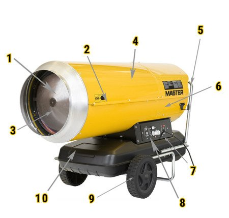 Nagrzewnica olejowa Master B 230 + termostat TH5 3-metrowy